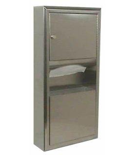 Bobrick-Slider4-WA-Paper Towel DispenserTrash Receptacle