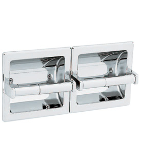 Gamco-Slider2-WA-Recessed Double Toilet Tissue Holder