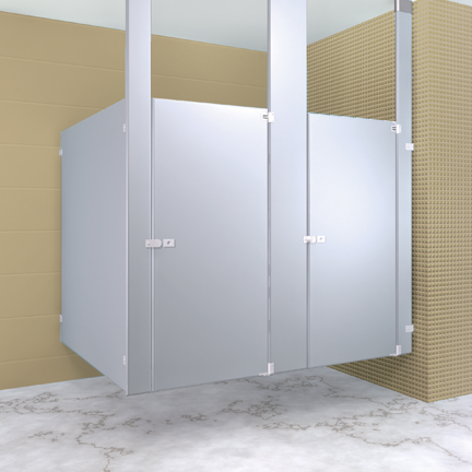 Metpar Toilet Partitions - Solid plastic bathroom partitions