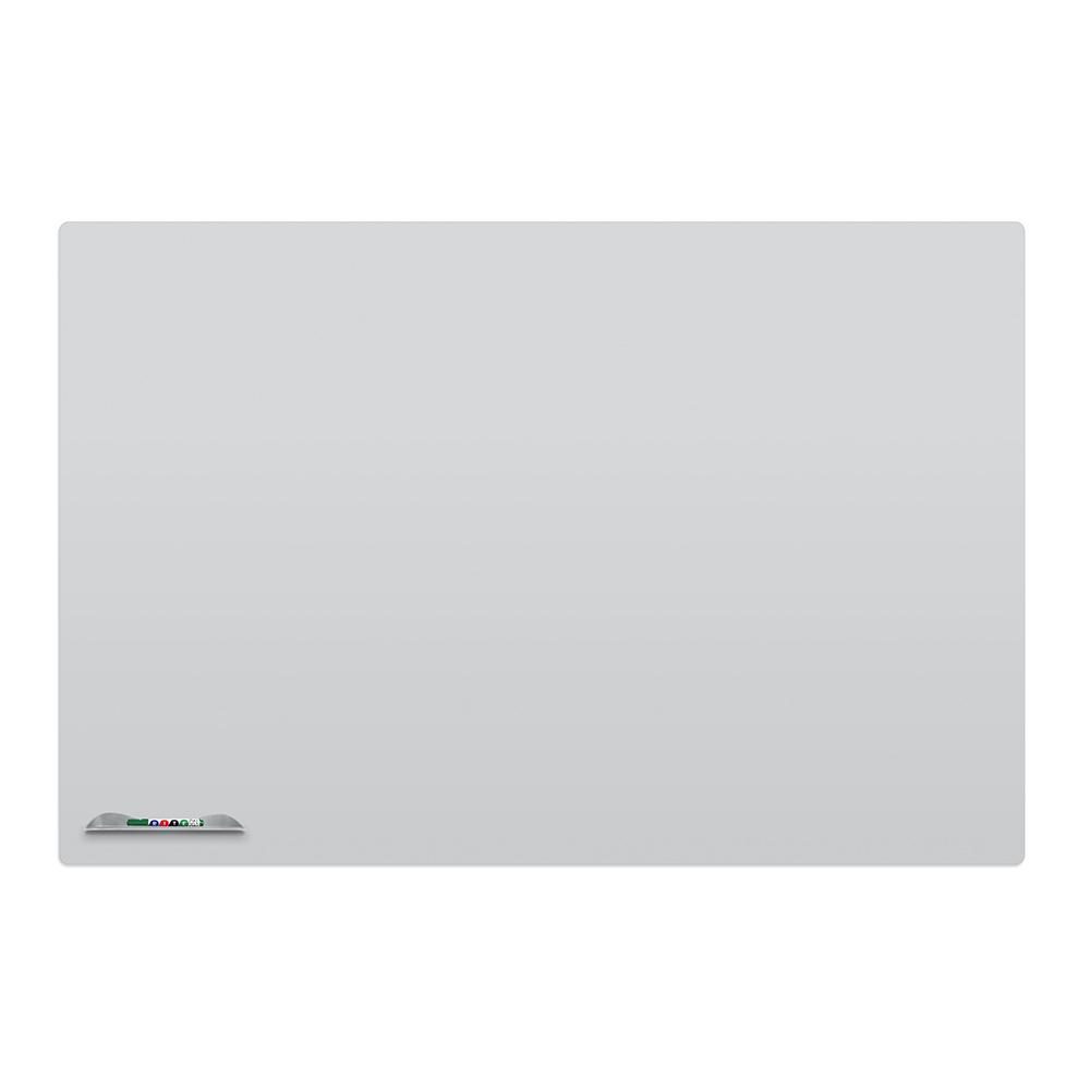 MooreCo-elemental-frameless-whiteboard-4x6-w-black-q-tray-proj-gray-Slider4